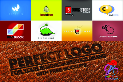 Make 3 perfect logos for your company, Brand or Service with free 5 mockups