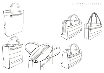 Create Hand Drawings/Sketches of Bags, Small Leather goods and Accessories