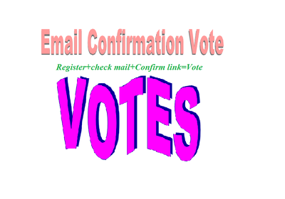 Do 250 Votes signup or registration with email confirmation votes