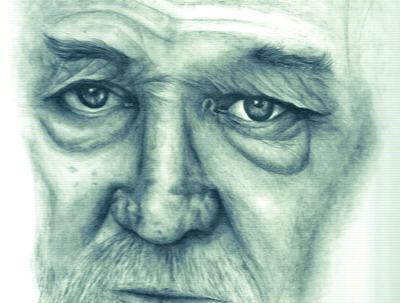 Sketch a portrait in graphite/pencil