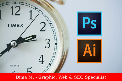 Be your graphic designer for 1 hour