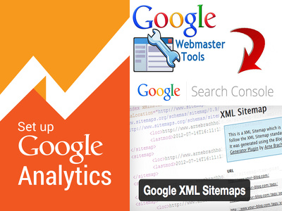 Help you set up Google Analytics, Google Webmaster tool and Sitemap