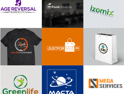 Create a creative professional logo + FREE social media cover banner in 12hrs