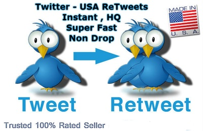 Provide 300 Twitter - Retweets From USA Users ( HQ )