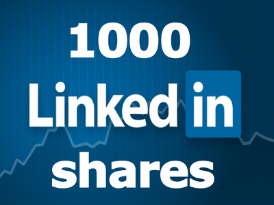 Permanent 1000 LinkedIn Shares for your Website, Blog OR Any URL