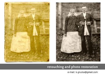 Old photo restoration - digitally restoring, retouching and reviving old photos