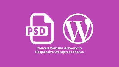 Convert PSD Artwork to Responsive Wordpress Theme