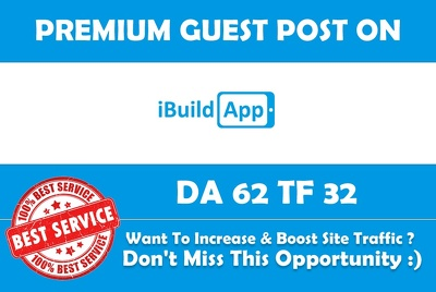 Write & Publish Guest Post on Ibuildapp.com - DA 62 - Premium Dofollow Backlink