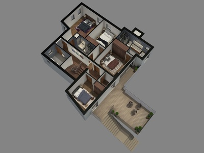 2D floor plans to life, realistic 3D rendered visuals