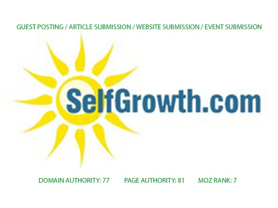 Premium Guest post on Selfgrowth by Trusted Selfgrowth Author