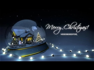 Create Christmas and New Year greetings video animation in 1 day