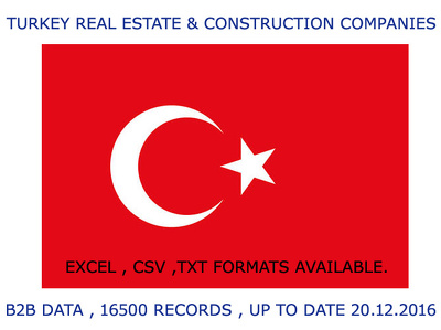 PROVIDE YOU 16,500 RECORDS OF TURKEY REAL ESTATE AGENTS AND CONSTRUCTION COMPANIES