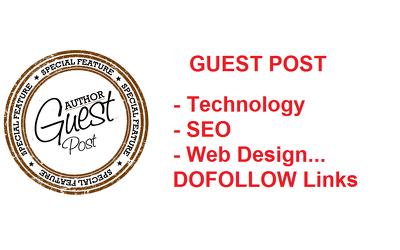 Publish Guest Post on Technology SEO Web Design Niche Sites - Content Marketing