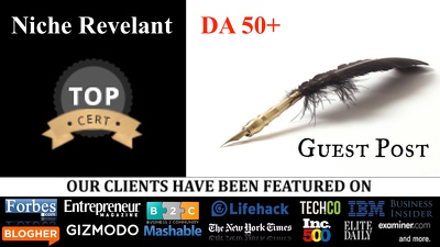 Write+ publish 900 word guest posts on DA50+ blogs - Blogger outreach - Link building