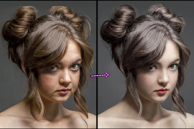 Retouch of 5 photos