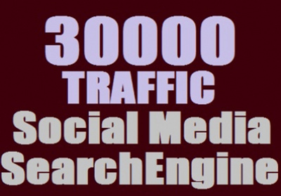 Send 30,000 + Web Traffic WORLDWIDE from Search Engine and Social Media