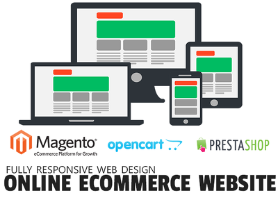 Design a fully Responsive eCommerce website online shop Magento/Prestashop/Opencart