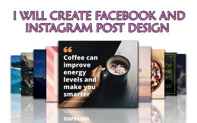 Create facebook and instagram post design