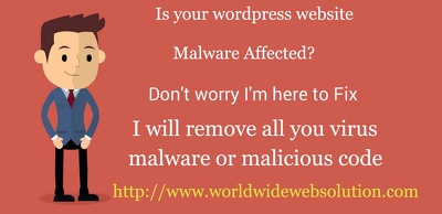 Remove all malware, virus and Malicious code from your wordpress website