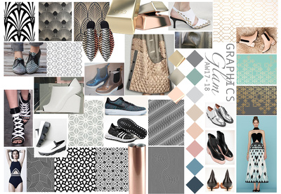 Create mood boards & key shapes (Footwear) for upcoming seasons to fit your brand