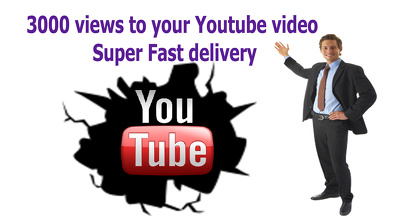 Provide 3000+ views to your Youtube video Super Fast delivery