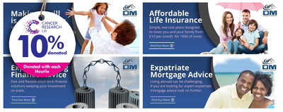 Create your web banner ( 10% goes to Cancer Research )
