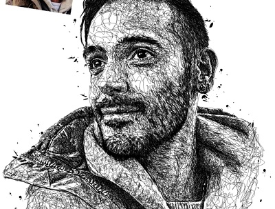 Draw cool sketches Scribble ART vector Portrait