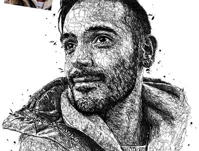 Draw cool sketches Scribble ART vector Portrait