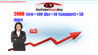 Take 3000 You tube Video View &100 Like as well as 50 Social share