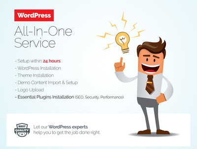 Offer WordPress AIO service - Theme Setup, SEO, Security and Plugins Installation