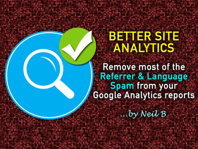 Remove most Referrer & Language spam from your site's Google Analytics reports