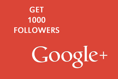 Give you 1000 high quality Google Plus followers