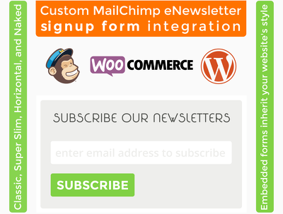 Add a custom MailChimp enewsletter signup form to your WordPress/ WooCommerce website