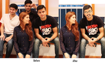 Composite different photos in photoshop