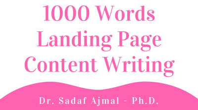 1000 Words Landing page content writing