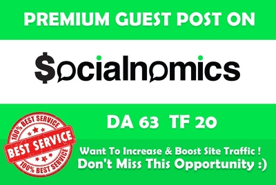 Write & Publish Guest Post on Socialnomics. Socialnomics.net - DA 63
