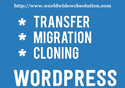 Migrate/ move / copy / clone / a WordPress site to a new server or domain
