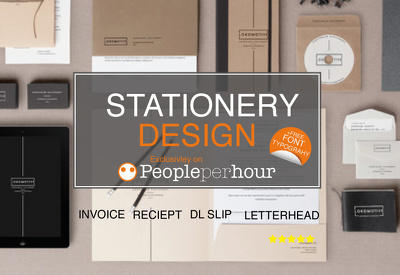 Design your branded stationery items - Letterhead, Business Card, Invoice & Slips