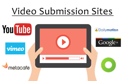Submit your video on 20 high page rank sites