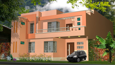 Do 3D Exterior Rendering of Home (per render)