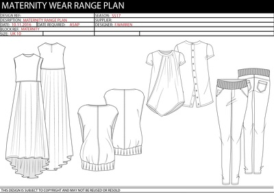 Design your Maternity Wear 4 piece range