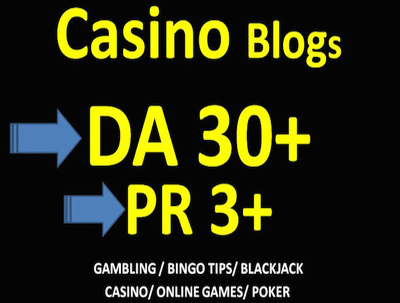 Do Guest Post on DA 30 Casino High Quality Blog