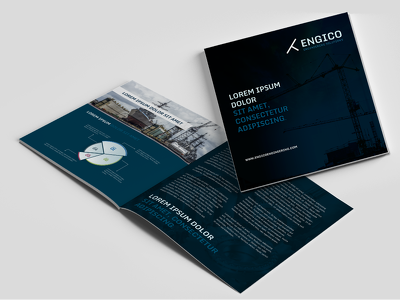 Create a modern bi-fold brochure in any size