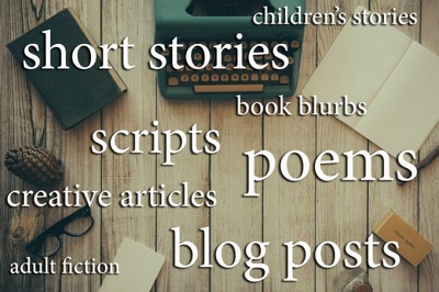 Write a short story, script, blog entry, article, blurb, script, ebook or poem