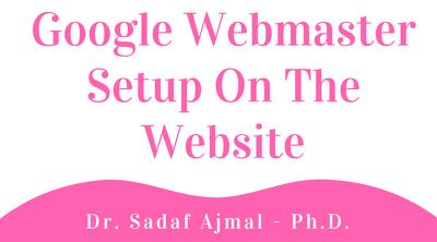 Setup Google Webmaster on your website