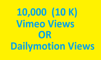 12000+YouTube Video or VIMEO Video Dailymotion Video Views for Ranking your Video