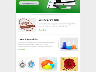 Create a unique & responsive email template / newsletter