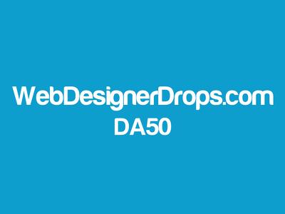 Guest post on tech & design website WebDesignerDrops.com DA50