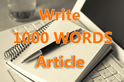 Write 1000 Words article on any Topic