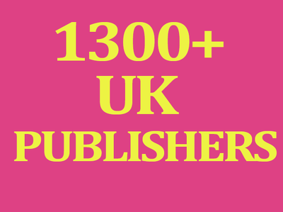 Give you 1300 UK publishers contact information